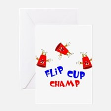 Flip Cup Champ Greeting Card
