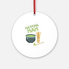 Matcha Man Tea Round Ornament