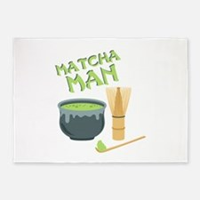Matcha Man Tea 5'x7'Area Rug
