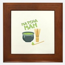 Matcha Man Tea Framed Tile