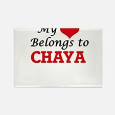 My heart belongs to Chaya Magnets