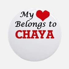 My heart belongs to Chaya Round Ornament