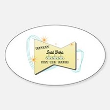 Instant Social Worker Oval Decal