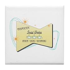 Instant Social Worker Tile Coaster
