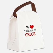 My heart belongs to Chloe Canvas Lunch Bag