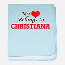 My heart belongs to Christiana baby blanket
