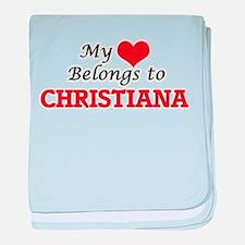 My heart belongs to Christiana baby blanket