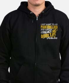 Unique Paintball Zip Hoodie (dark)