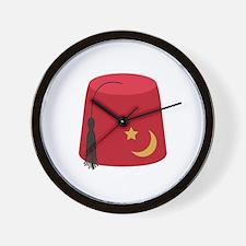 Fez Hat Wall Clock
