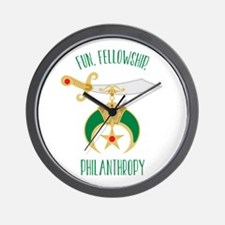 Fun Fellowship Philanthropy Wall Clock