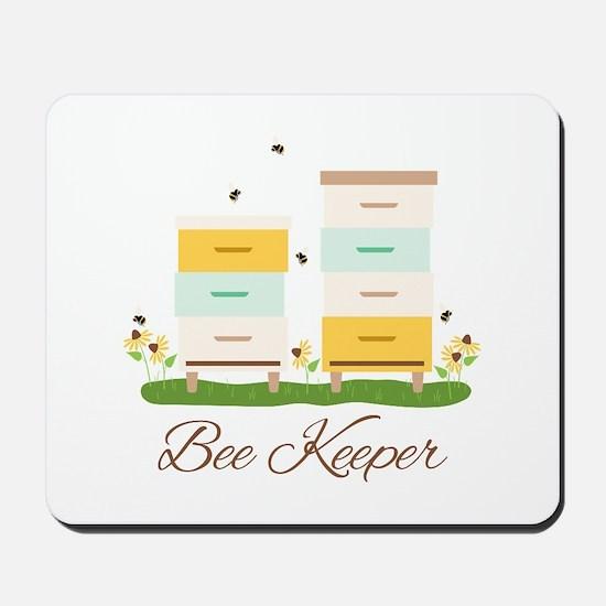 Bee Keeper Boxes Mousepad