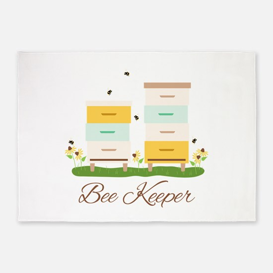 Bee Keeper Boxes 5'x7'Area Rug