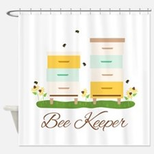 Bee Keeper Boxes Shower Curtain
