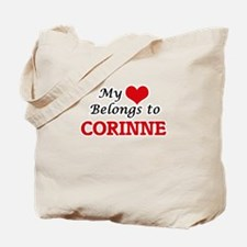 My heart belongs to Corinne Tote Bag