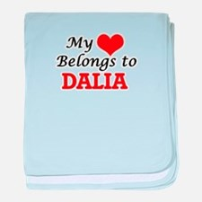 My heart belongs to Dalia baby blanket