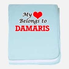 My heart belongs to Damaris baby blanket