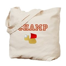 Beer Pong Champ Tote Bag