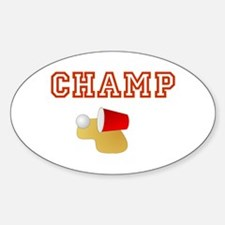Beer Pong Champ Oval Decal