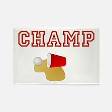 Beer Pong Champ Rectangle Magnet