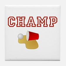 Beer Pong Champ Tile Coaster
