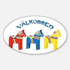 Dala Valkommen Horses Decal