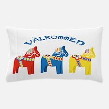 Dala Valkommen Horses Pillow Case