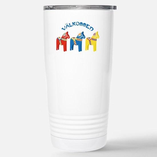 Dala Valkommen Horses Travel Mug