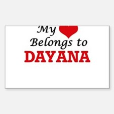 My heart belongs to Dayana Decal