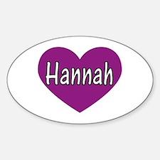 Hannah Oval Decal