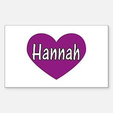 Hannah Rectangle Decal