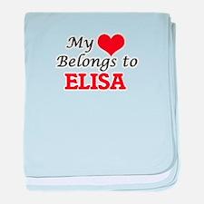 My heart belongs to Elisa baby blanket