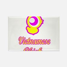 Vietnamese Chick Rectangle Magnet