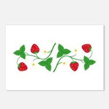Strawberry Vine Border Postcards (Package of 8)