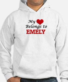 My heart belongs to Emely Hoodie Sweatshirt
