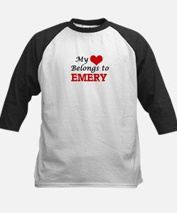 My heart belongs to Emery Baseball Jersey
