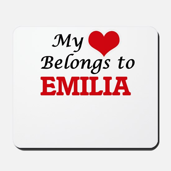 My heart belongs to Emilia Mousepad
