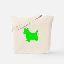 Cairn Terrier Neon Green 1C Tote Bag