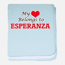 My heart belongs to Esperanza baby blanket
