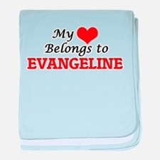 My heart belongs to Evangeline baby blanket