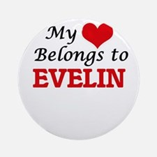My heart belongs to Evelin Round Ornament