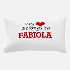 My heart belongs to Fabiola Pillow Case