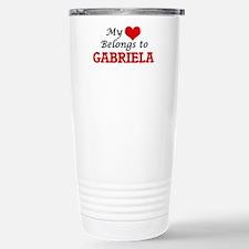 My heart belongs to Gab Stainless Steel Travel Mug