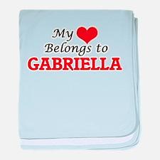 My heart belongs to Gabriella baby blanket