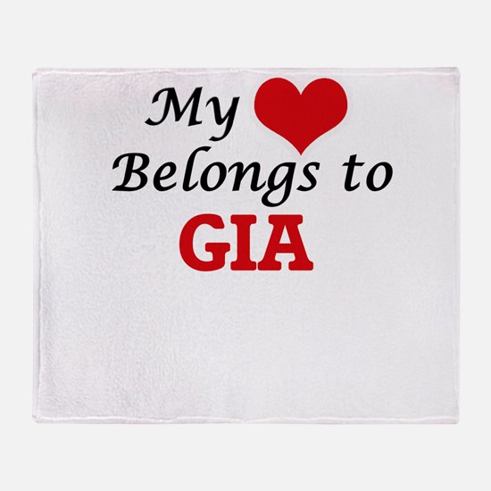 My heart belongs to Gia Throw Blanket