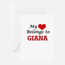 My heart belongs to Giana Greeting Cards