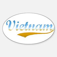 Vietnam beach flanger Oval Decal