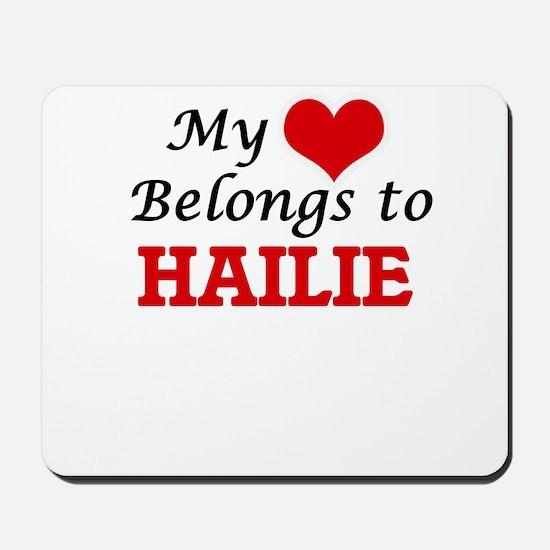 My heart belongs to Hailie Mousepad
