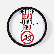 Better Dead than Red Wall Clock