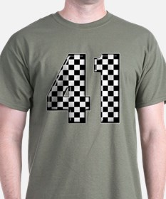 Checkered Number 41 T-Shirt