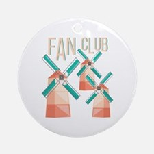 Fan Club Round Ornament
